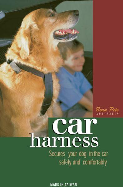 Beau Pets Car Harness - Black